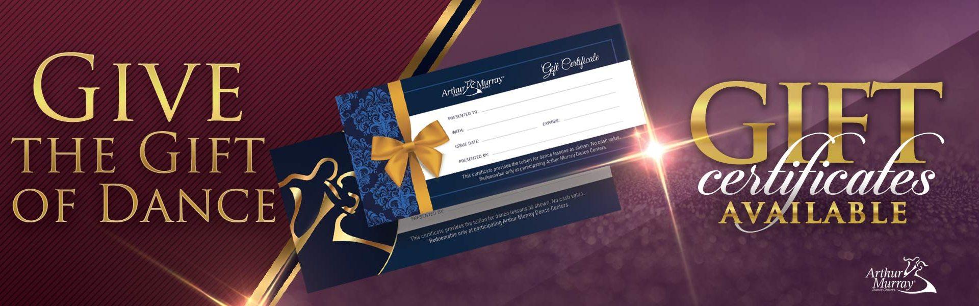 Arthur Murray Mississauga Gift Certificates